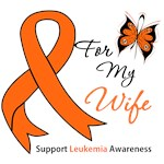 Leukemia Ribbon For My Wife Shirts & Gifts