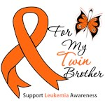 Leukemia Ribbon For My Twin Brother Shirts & Gifts