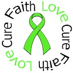 Faith Love Cure Lymphoma Awareness Shirts & Gifts