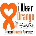 Leukemia I Wear Orange For My Father Shirts