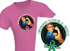 Rosie Riveter Fight Like a Girl Shirts and