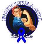 Rosie The Riveter Fight Like a Girl Anal Cancer