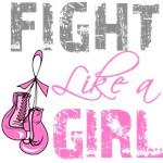 Fight Like a Girl Pink Gloves Breast Cancer