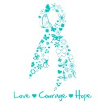 Ovarian Cancer Love Courage Hope Shirts