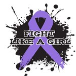 Hodgkin's Disease Fight Like a Girl Shirts and Gif