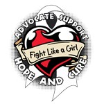 Ribbon Fight Like a Girl Lung Cancer Shirts