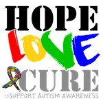 Hope Love Cure Autism Shirts, Tees and Gifts