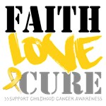 Faith Childhood Cancer Shirts and Gifts