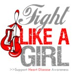 Fight Like a Girl Heart Disease Shirts and Gifts