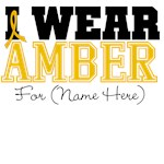 Custom I Wear Amber Appendix Cancer Shirts
