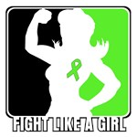 Fight Like a Girl Lymphoma Shirts