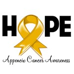 Hope Ribbon Appendix Cancer Shirts and Gifts