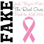 Yeah Fake Breast Cancer Shirts