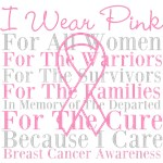 I Wear Pink Tribute Breast Cancer Shirts