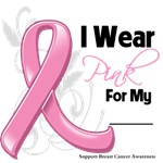 I Wear Pink Ribbon Breast Cancer Awareness Shirts
