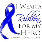 Colon Cancer I Wear a Ribbon For My Hero Shirts