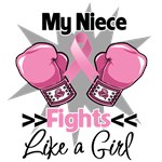 My Niece Fights Like a Girl Breast Cancer Shirts