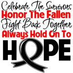 Skin Cancer Celebrate Honor Fight Hope Shirts