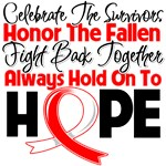 Oral Cancer Celebrate Honor Fight Hope Shirts