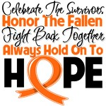 Kidney Cancer Celebrate Honor Fight Hope Shirts