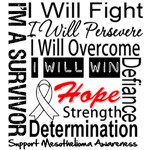 Mesothelioma Cancer Persevere Shirts
