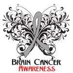 Butterfly Floral Brain Cancer Shirts and Gifts