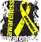 Testicular Cancer Awareness Grunge Ribbon Shirts