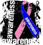 Male Breast Cancer Awareness Grunge Shirts