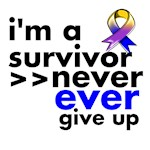 Never Give Up Bladder Cancer Shirts and Gifts