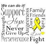 Testicular Cancer Supportive Words Shirts and Gift