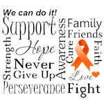 Kidney Cancer Supportive Words Shirts and Gifts