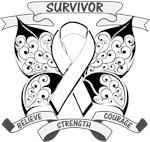 Bone Cancer Survivor Butterfly Strength Shirts