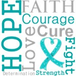Hope Faith Courage Ovarian Cancer Shirts