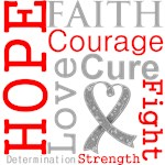 Hope Faith Courage Brain Cancer Shirts