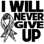 I Will Never Give Up Carcinoid Cancer Shirts