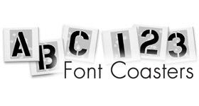 Font Tile Coasters