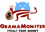 Obama Monster Steals Your Money