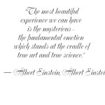 """""""The most beautiful experience we can have is the"""