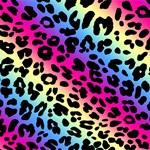 Colorful Neon Leopard Pattern Prints