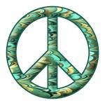 Peace Sign Swirl Silhouette