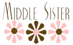 Middle Sister - Pink/Brown Flowers
