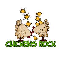 chickens rock
