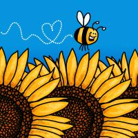Bee trail Sunflower