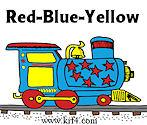 Red Blue Yellow Train