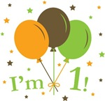 Retro Balloons I'm 1 First Birthday T-Shirts