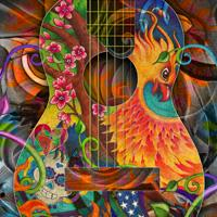 Phoenix Bird of Fire Guitar