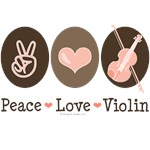Peace Love Violin T-shirt Gifts