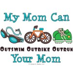 Triathlon Mom Triathlete Teen Kid Baby Tees Gifts