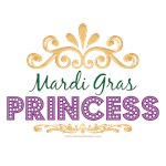Mardi Gras Princess T shirt Gifts