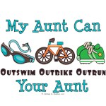 Triathlon Aunt Triathlete Teen Kid Baby Tees Gifts